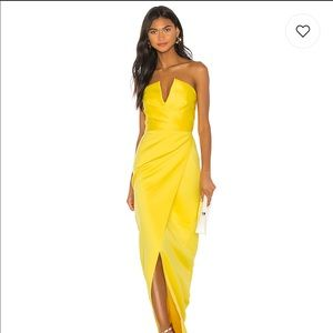 Darcy Gown In Bright Yellow by Jay Godfrey